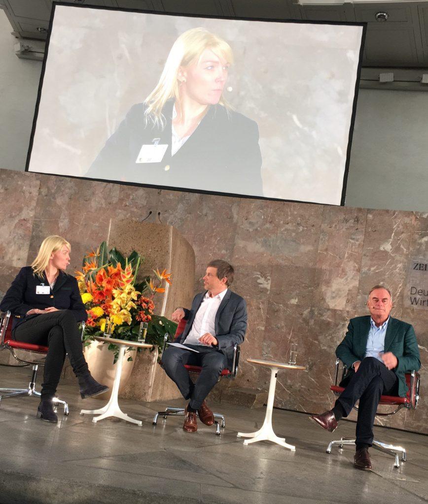 Anna Alex, Outfittery und Dr. Georg Kofler, Social Chain Group, 10. Deutsches Wirtschaftsforum