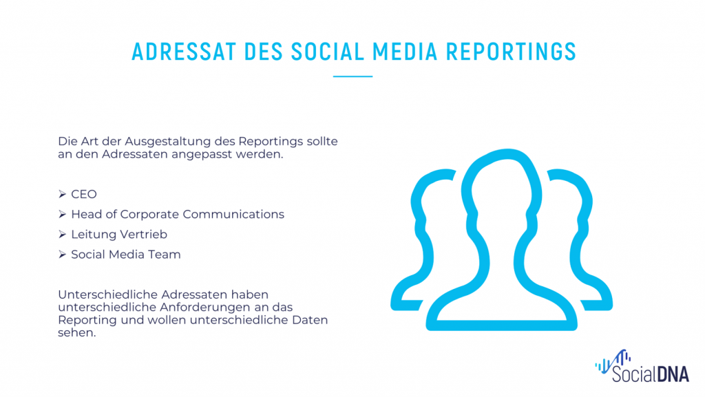 Social DNA Social Media Reporting Ausrichtung
