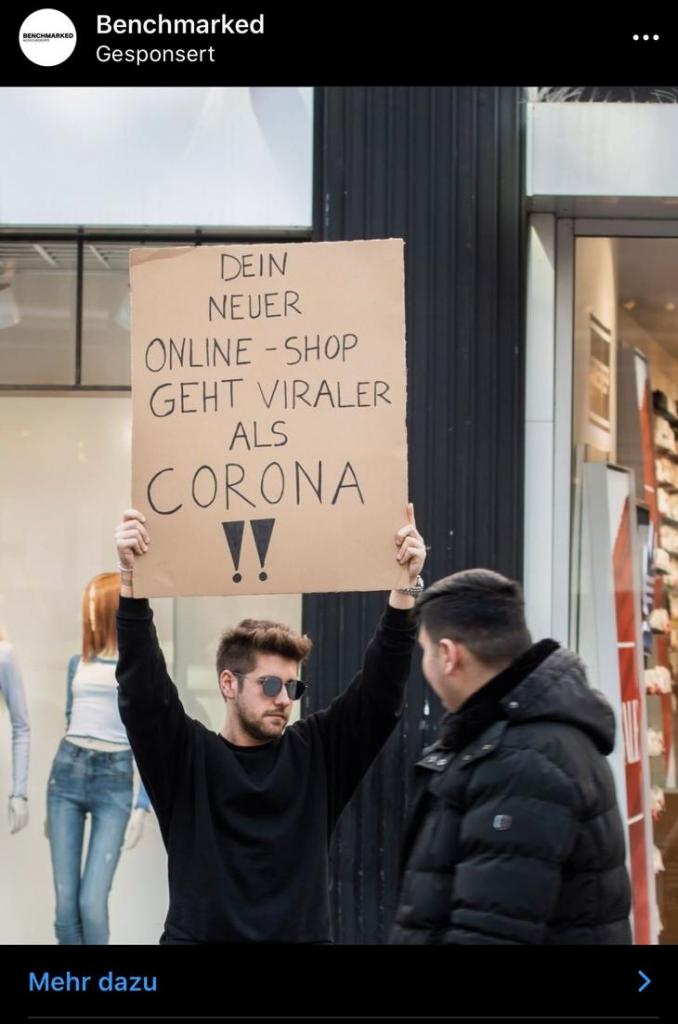 Schlechter Post zu Corona Benchmarked