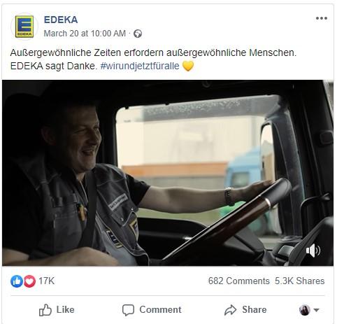 Social Media Video Edeka Coronavirus