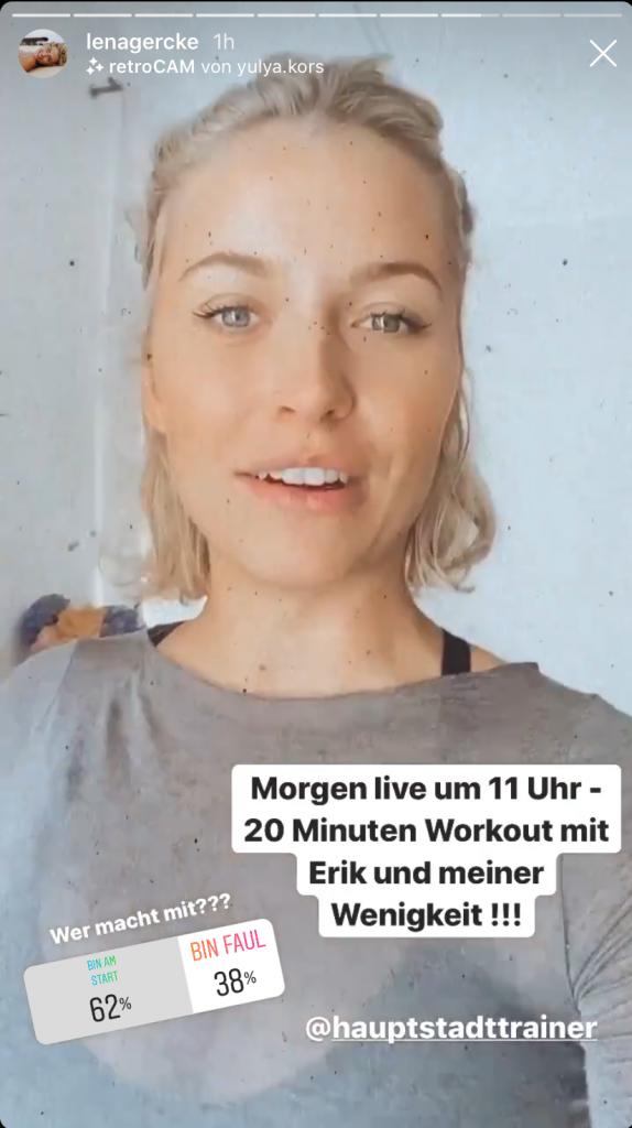 Social Media Post Corona Lena Gercke