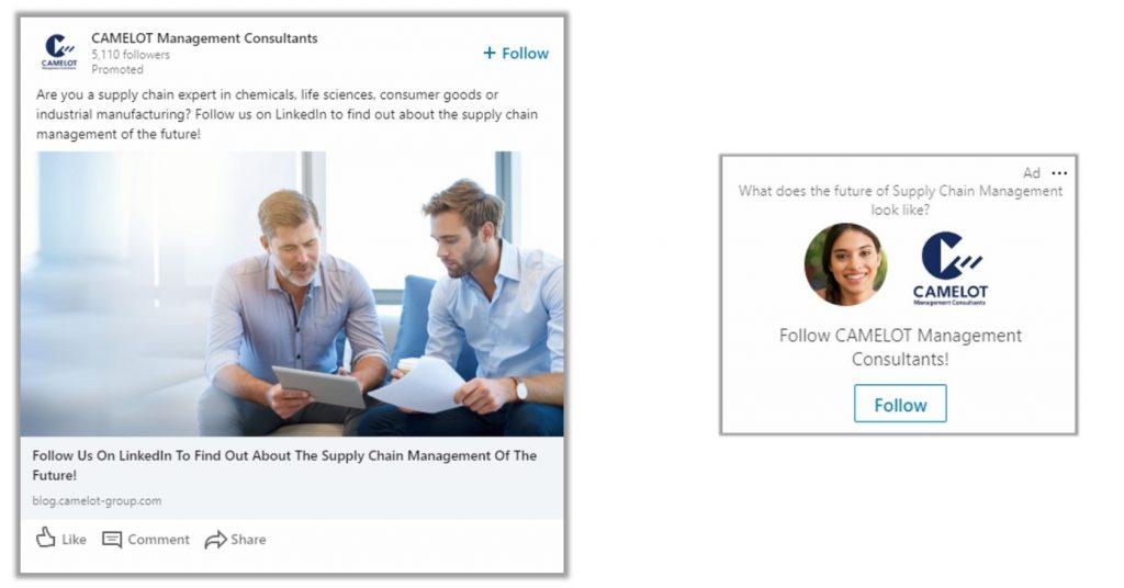 Social DNA Camelot Case LinkedIn Advertisement