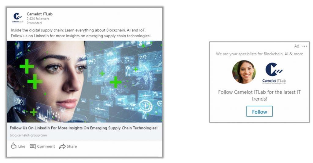 Social DNA Camelot Case LinkedIn Sponsored Content