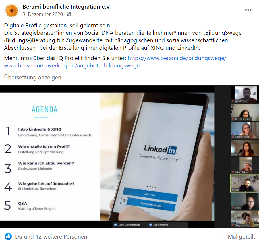 Facebook-Post-LinkedIn-Training-Social-DNA-berami-Dezember-2020